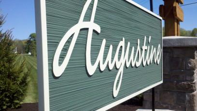 Augustine - Sandblasted Subdivision Sign