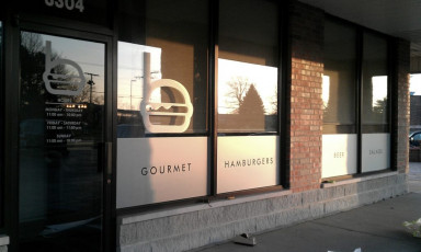 Burgerhaus - Etched Window Graphics
