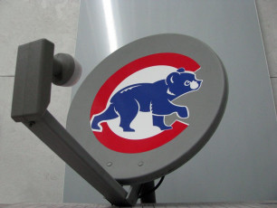 Cubs Satellite Dish Decal