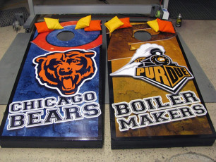 Custom Cornhole Set - Bears & Purdue