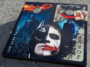 Custom Cornhole Set - Dark Knight & Joker