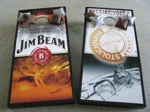 Custom Cornhole Set - Jim Beam & Stoli