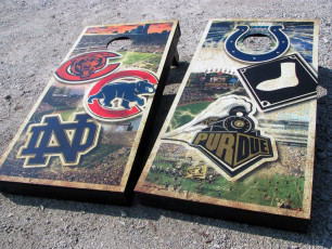 Custom Cornhole Set - Sports