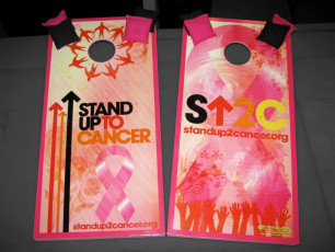 Custom Cornhole Set - Stand Up To Cancer