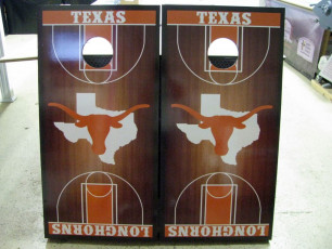 Custom Cornhole Set - Texas Longhorns