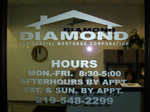 Diamond Mortgage - Window Graphics