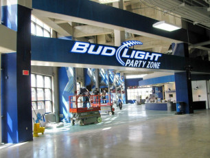 Ford Field (Detroit Lions) - Bud Light Channel Letters
