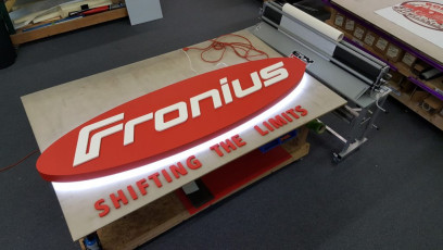 Fronius - Back-lit Channel Box & Dimensional Letters