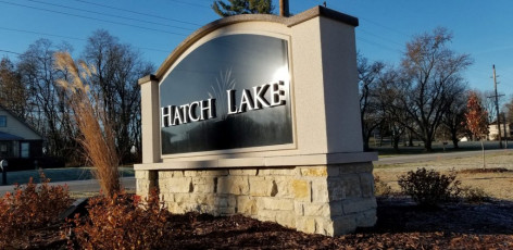 Hatch Lake - Subdivision Monument Sign
