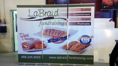 LaBraid Fundraising - Retractable Popup Banners