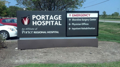 Portage Hospital - Illuminated Cabinet Faces