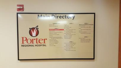 Porter Regional Hospital - Interior Directories & Inserts