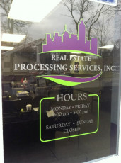 Real Estate Mortgage Processing - Window Graphics