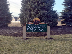 Seberger Farms - Foam Subdivision Entrance Sign