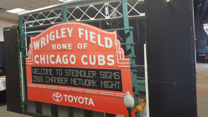 Steindler Signs - Valpo Chamber Booth Cubs Backdrop