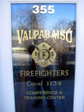Valparaiso Firefighters Local 1124 - Window Graphics