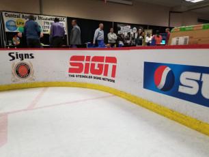 Valpo Chamber Hockey Booth - Routed Boards, Custom Logos and Digital Prints #2