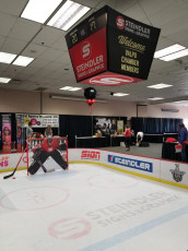 Valpo Chamber Hockey Booth - Routed Goalie, Floor Graphics, Boards and Prints #2