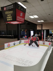 Valpo Chamber Hockey Booth - Routed Goalie, Floor Graphics, Boards and Prints