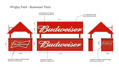 Wrigley Field (Chicago Cubs) - Budweiser Patio Cart Plans