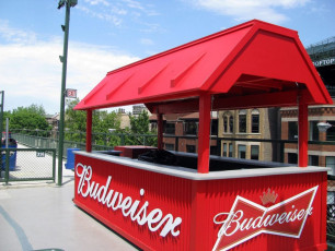 Wrigley Field (Chicago Cubs) - Budweiser Patio Cart Signage
