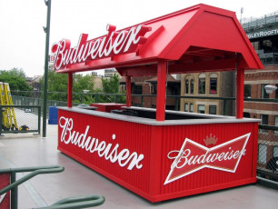 Wrigley Field (Chicago Cubs) - Budweiser Patio Cart Signage & Channel Letters