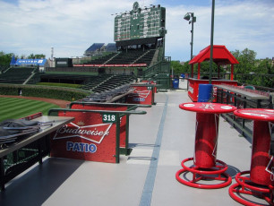 Wrigley Field (Chicago Cubs) - Budweiser Patio Signage