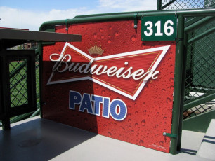 Wrigley Field (Chicago Cubs) - Budweiser Patio Signage #2