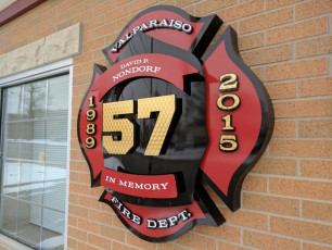 Valparaiso Fire Dept - Custom Routed 3D Memorial Sign