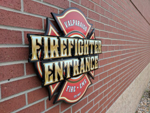 Valparaiso Fire Dept - Routed Wall Sign