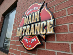 Valparaiso Fire Dept - Routed Wall Sign #2
