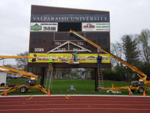 Valparaiso University (VU) - Scoreboard Sign Face with Large Format Translucent Print #3